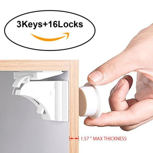 16PCS-Magnetic-Cabinet-Locks-Child-Proof-Cupboards-Drawers-Invisible-Baby-Safety-0