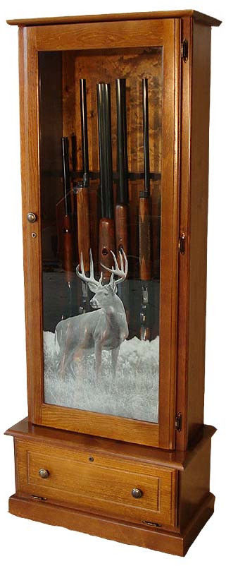 6-10-Gun-Locking-Fully-Assembled-Solid-Pine-Deer-Glass-In-Stock-Made-in-the-USA-0