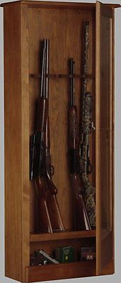 American-Furniture-Classics-724-10-10-Wood-Gun-Cabinet-Medium-Brown-0