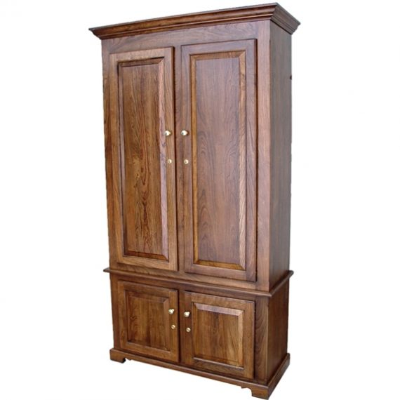 Amish Woodworking 50511B Portofino II 10 Gun Cabinet – Solid Cherry