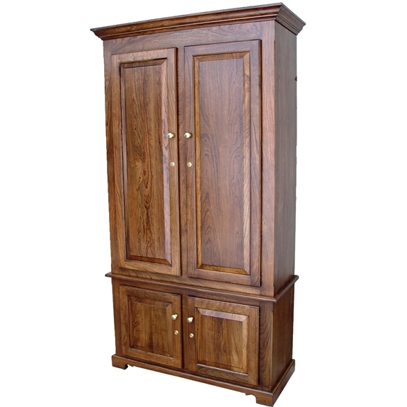 Amish Woodworking 50511B Portofino II 10 Gun Cabinet - Solid Cherry