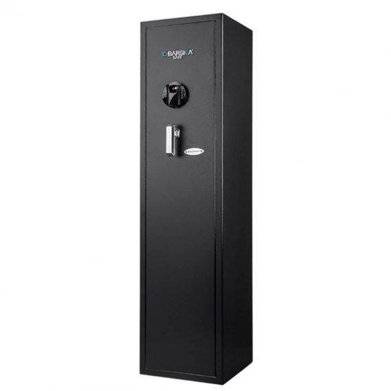 Barska AX12752 Large Quick Access Biometric Rifle Safe – 5 Gun Safe