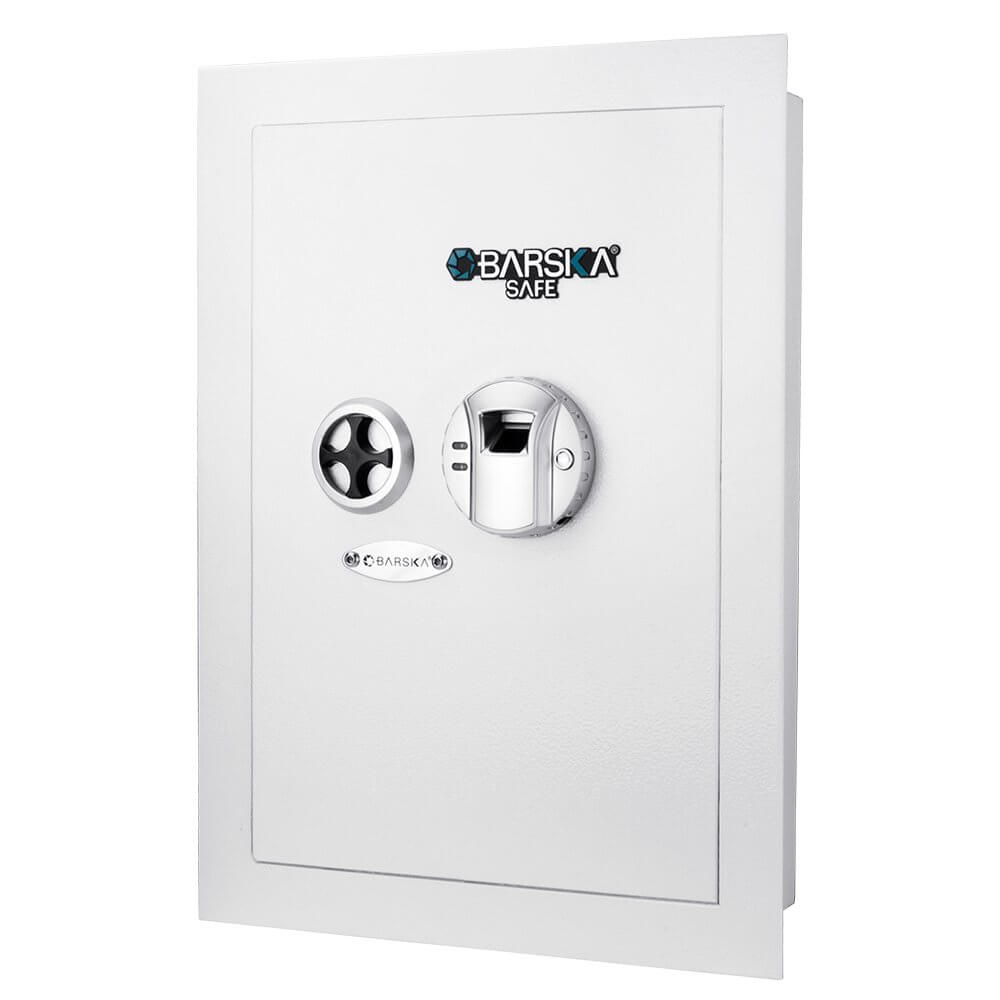 Barska AX13030 White Biometric Wall Safe