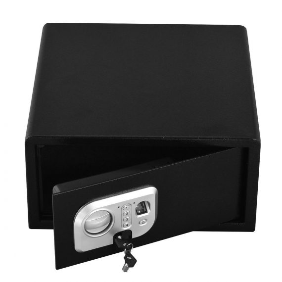 Biometric-29-Fingerprint-Digital-Electronic-Wall-Floor-Mount-Safe-Key-Box-157-0
