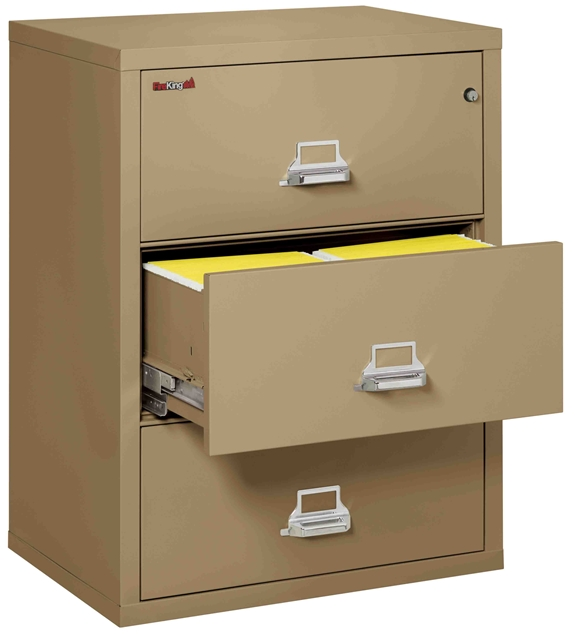 Fire King 3-3122-C - Lateral Fireproof File Cabinets - 3 Drawer 1 Hour Fire Rating