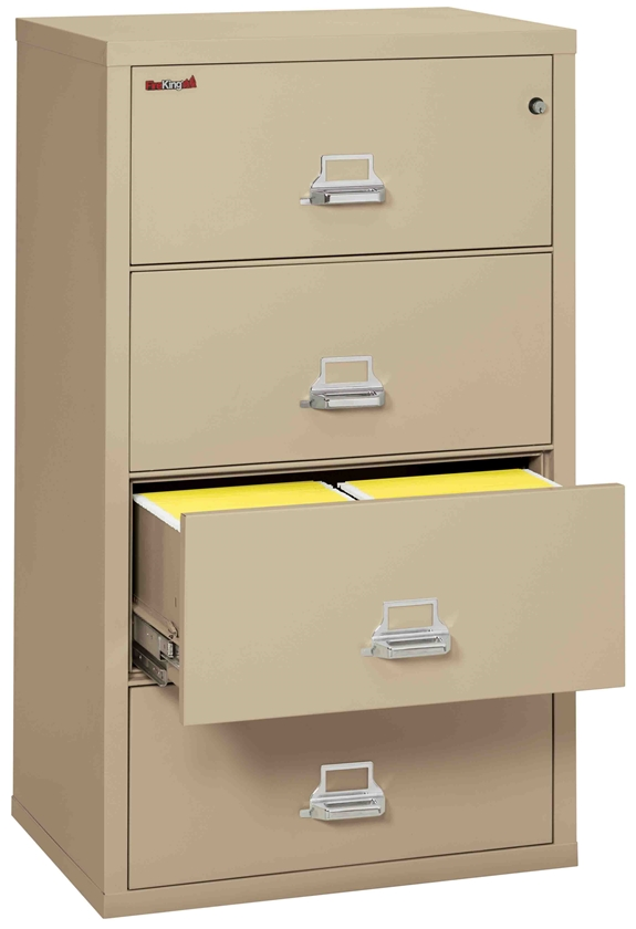 Fire King 4-3122-C - Lateral Fireproof File Cabinets - 4 Drawer 1 Hour Fire Rating