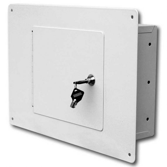 Homak Security – WS00017001 – Between The Studs White Wall Safe