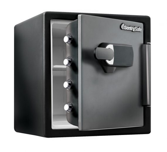Jewelry-Safe-Box-Fire-Water-Resistant-Bolt-Down-Money-Alarm-Security-Home-Black-0