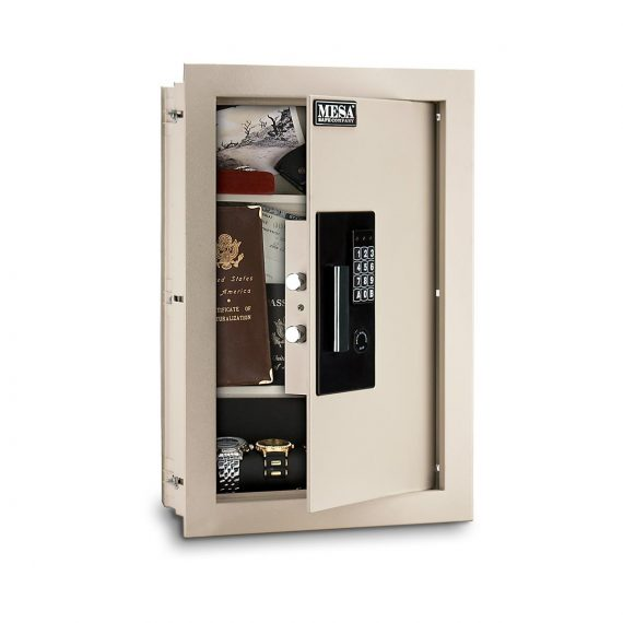 Mesa Safes MAWS2113E Safe – Adjustable Wall Safe