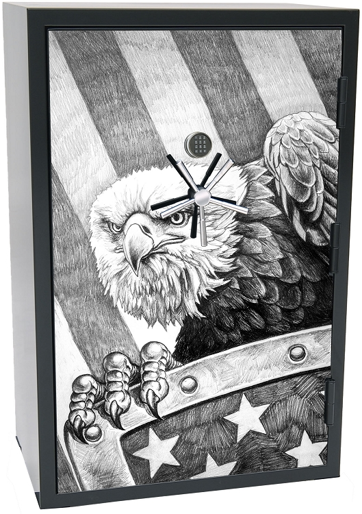 Old Glory Tactical Gun Safe - Bald Eagle - 45 Gun Capacity - 2 Hour Rating