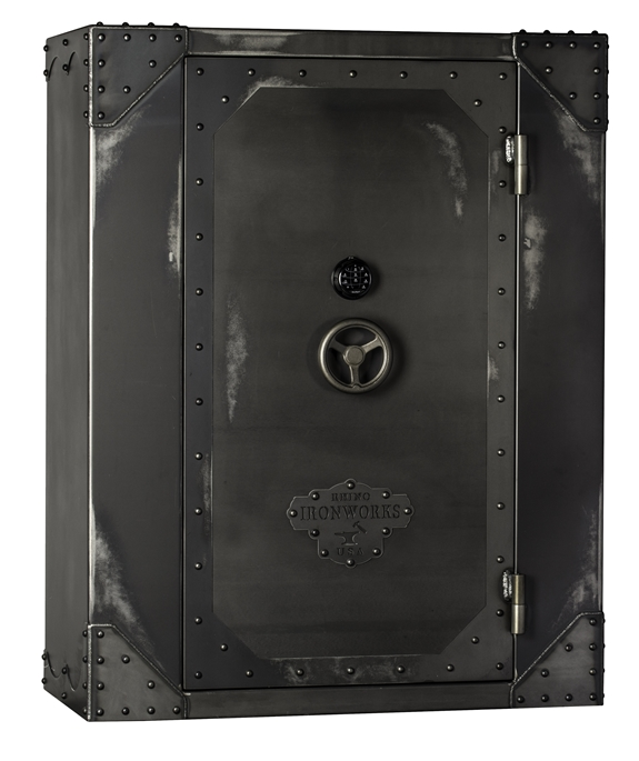 Rhino AIW Series Ironworks AIW7256X 130 Minute Fire Safe: 68 Long Guns 10 Pistol Pockets Gun Safe