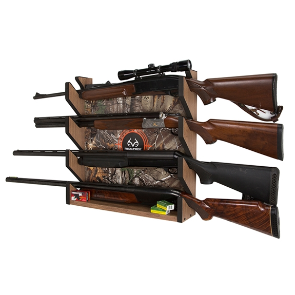 Rush Creek REALTREE Camo 4-Gun Wall Storage Rack