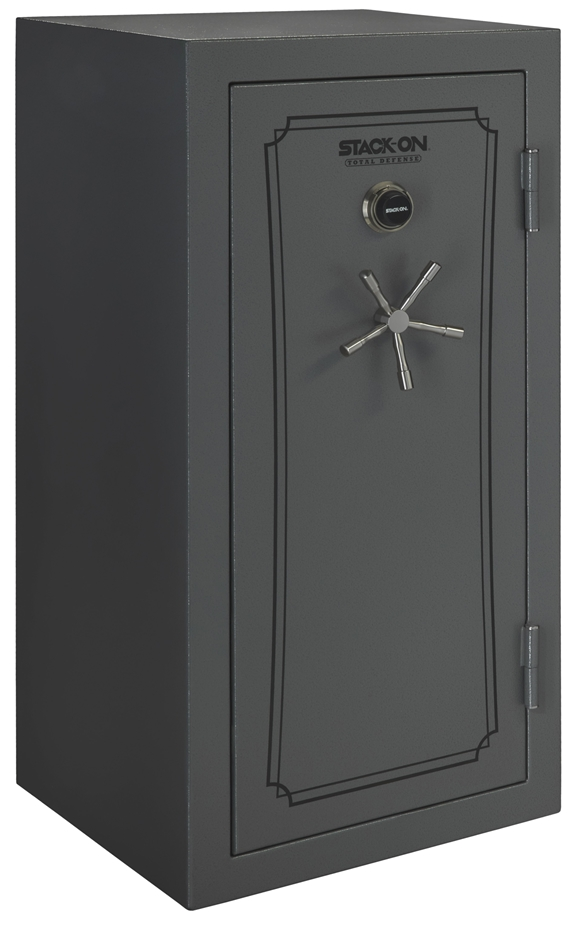 Stack-On Total Defense 36-40 Gun Safe w/Combination Lock Grey Pepple