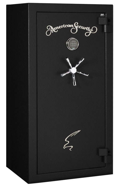 American Security – BF6030 – 11/11/22 Gun Capacity – 120 Min / 1200° – Quick Ship Matte Black Electronic Lock Safe