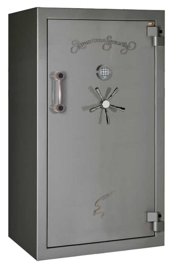 American Security – BF6636 – 12/12/24 Gun Capacity – 120 Min / 1200° – Quick Ship Gloss Charcoal Electronic Lock Safe