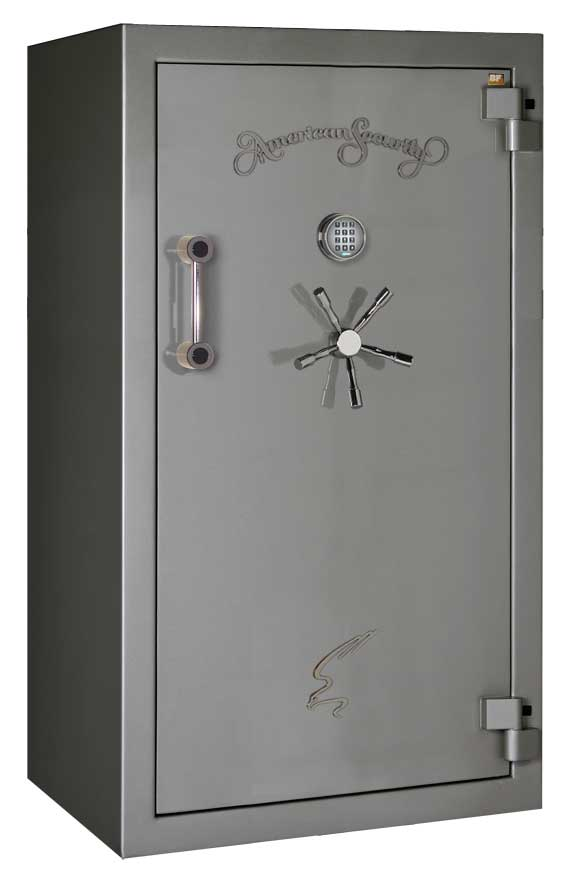 American Security - BF6636 - 12/12/24 Gun Capacity - 120 Min / 1200° - Quick Ship Gloss Charcoal Electronic Lock Safe