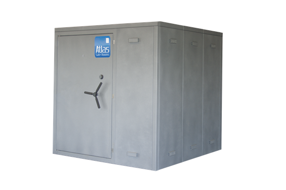 """Atlas Safe Rooms - Alternate Series - 14 Person Safe Room - 6' 5"""" by 6' 5"""""""