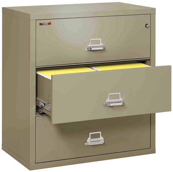 Fire King 3-3822-C - Lateral Fireproof File Cabinets - 3 Drawer 1 Hour Fire Rating