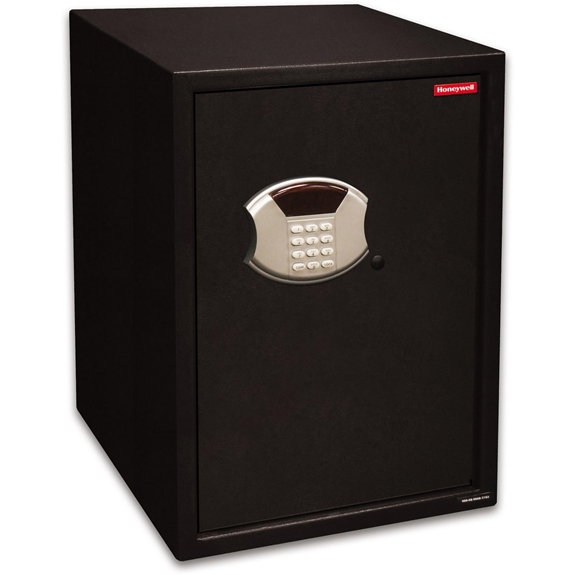 Honeywell 5107 Safe Large Steel Security Safe / 2.66 cu. ft. Capacity - Black