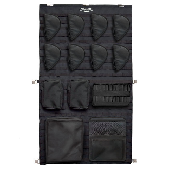 Stealth Tactical Door Panel Organizer Molle Webbing - Large