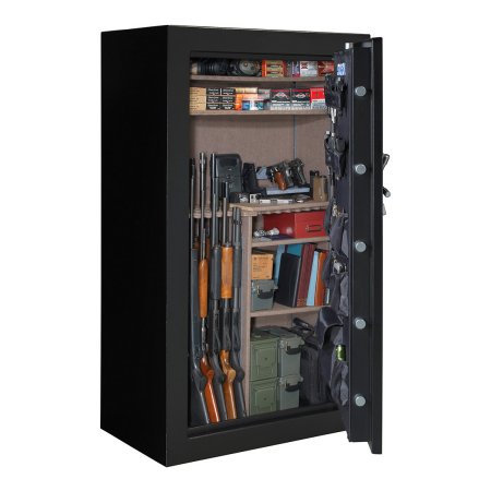 "72"" TALL, 64-Gun, Electronic Lock, Matte Black"