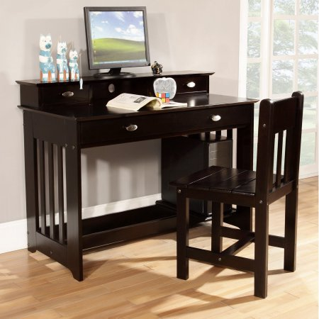 American Furniture Classics Student Desk with Hutch – Espresso