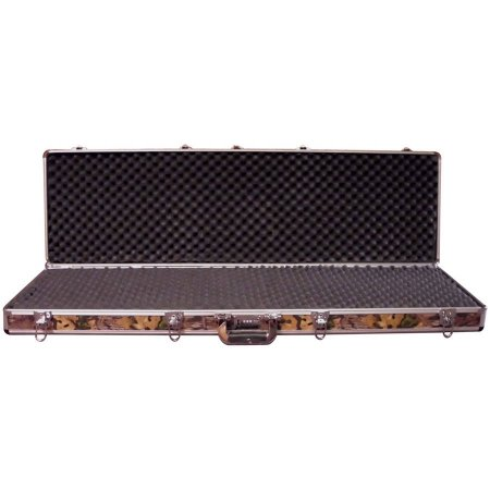 Boomstick Gun Accessories Double Rifle Aluminum Camo Gun Case (Key and Lock Combo Option)
