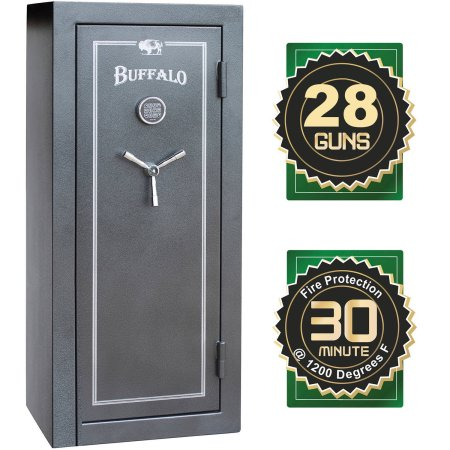Buffalo 28-Gun Electric Lock Fire Resistant Gun Safe