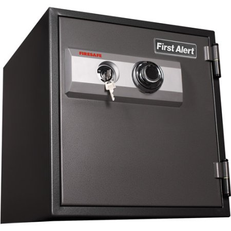 First Alert 1.2 cu. ft. Steel 1-Hour Fire and Anti-Theft Safe with Combination and Key Lock, 2084F Gray
