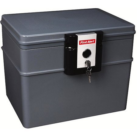 First Alert 2037F 0.62 cu. ft Water and Fire Protector File Chest with Key Lock