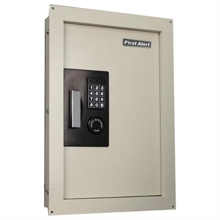 First Alert 2070AF Expandable Anti-Theft Wall Safe with Digital Lock, 0.33-0.85 Cubic Foot, Cream