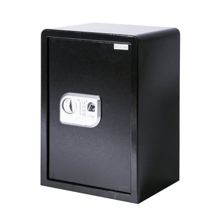 HomCom 19.7″ Large Fingerprint Electronic Gun Safe Box w/ Keypad Lock Security – Black