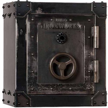 Rhino Ironworks Antiqued Fire Safe with Wheel Handle, 3027