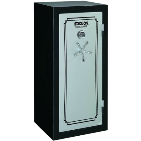 Stack-On 22-Gun Total Defense Fire and Waterproof Safe with Electronic Lock, Matte Black and Silver