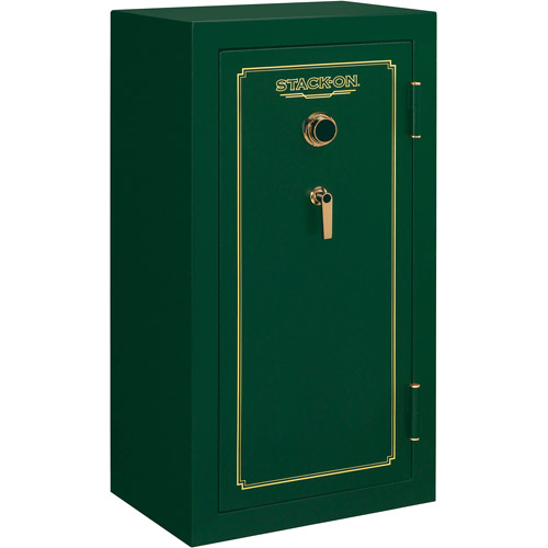 Stack-On 24 Gun Fire Resistant Security Safe with Combination Lock, Matte Hunter Green