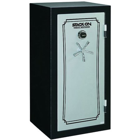 Stack-On 28-Gun Total Defense Fire and Waterproof Safe with Combination Lock, Matte Black and Silver