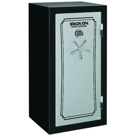 Stack-On 28-Gun Total Defense Fire and Waterproof Safe with Electronic Lock, Matte Black and Silver