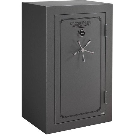 Stack-On 36-Gun Total Defense Fire and Waterproof Safe with Combination Lock, Gray Pebble