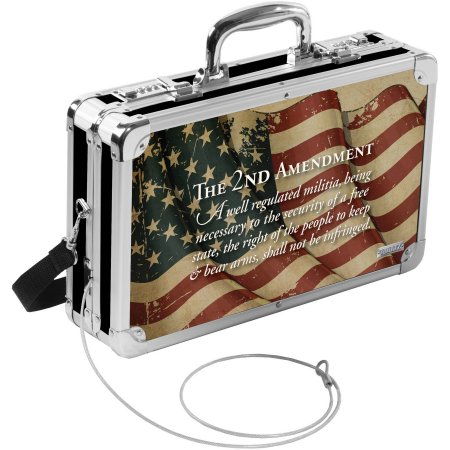 Vaultz Hard-Sided Handgun Case, 2nd Amendment Flag