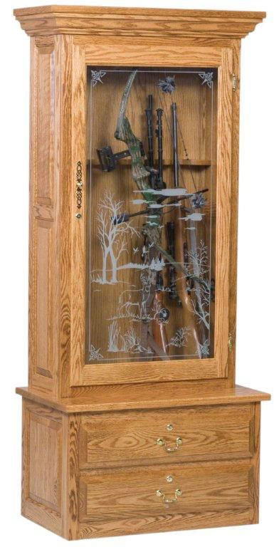 American-Bow-Hunter-Single-Door-Gun-Cabinet